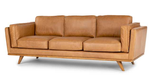 Timber Charme Tan Sofa - Article