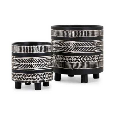 Ayrton Planters - Set of 2 - Mercer Collection