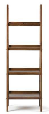 Sawhorse Medium Saddle Brown Ladder Bookcase - Home Depot