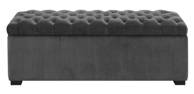 Mabel Shoe Upholstered Storage Bench Slate - Wayfair