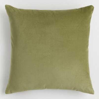 Light Green Velvet Throw Pillow - World Market/Cost Plus