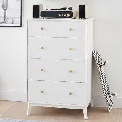 Quinn 4-Drawer Tall Dresser, Simply White - Pottery Barn Teen