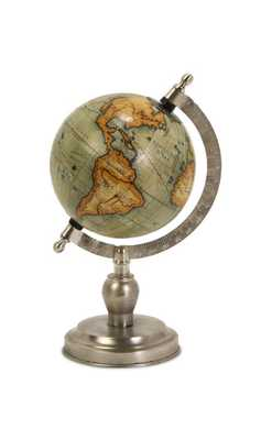 Colombo Small Globe with Nickel Finish Base - Mercer Collection