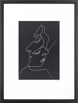 Close Noir Framed Art Print - Vector Black - 20 x 26 - Society6