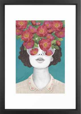 The optimist // rose tinted glasses Framed Art Print 20 x 26 - Society6