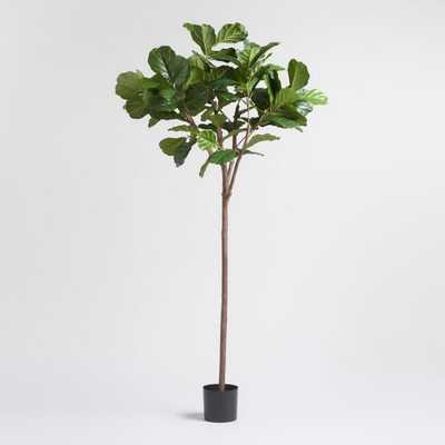 6 Foot Faux Fiddle Leaf Fig Tree: Green by World Market - World Market/Cost Plus