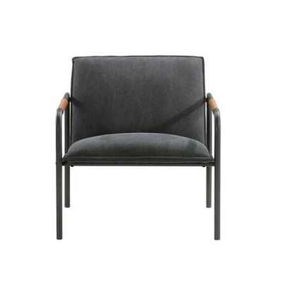 Sauder Boulevard Café Metal Lounge Chair Charcoal Gray - Target