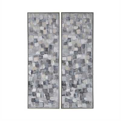 Cubist Hand Painted Canvases, S/2 - Hudsonhill Foundry