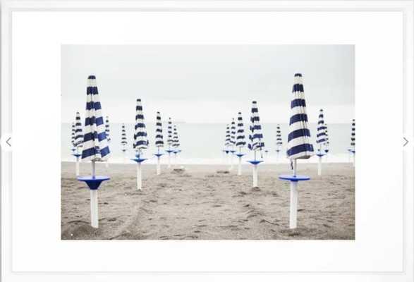 "Amalfi Beach Umbrellas Framed Art Print - 26"" x 38"" - Society6"
