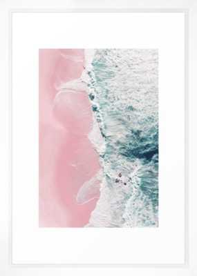 "sea of love II 15X21"" VECTOR WHITE Frame - Society6"