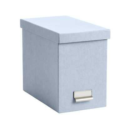 Bigso Steel Blue Stockholm Desktop File - containerstore.com