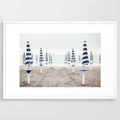 "Amalfi Beach Umbrellas Framed Art Print - 20"" x 26"" - Society6"