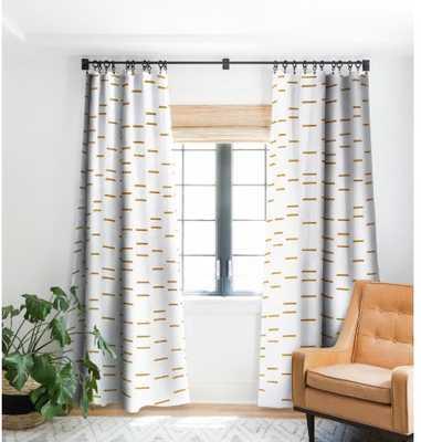 OCHRE LINE Blackout Window Curtain, single panel - Wander Print Co.