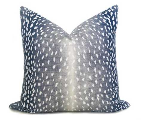 "Antelope Linen Print, Navy, Pillow Cover, 18"" - Willa Skye"