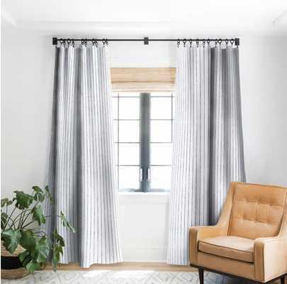 AEGEAN WIDE STRIPE Blackout Window Curtain - 2 Panels - Wander Print Co.