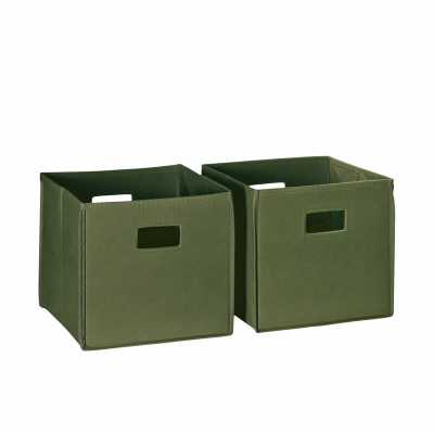 Folding Toy Storage Bin - Set of 2 - Wayfair