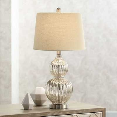 Lili Fluted Mercury Glass Table Lamp - Style # 8H816 - Lamps Plus