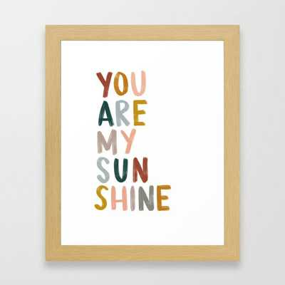 you are my sunshine Framed Art Print by anna grace - Society6