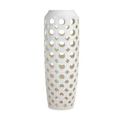 Mattlin Oversized Cutwork Floor Vase - Mercer Collection