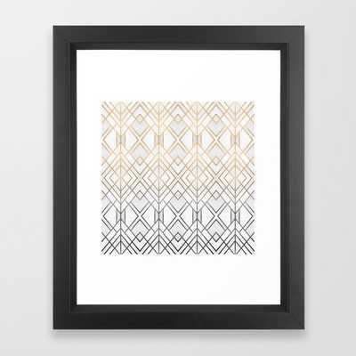 Gold And Grey Geo Framed Art Print - Society6