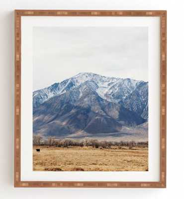 "THE VALLEY, Framed Art Print, 14"" x 16.5"", Bamboo Frame - Wander Print Co."