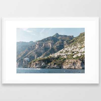 "Amalfi Coast Framed Art Print 26"" x 38"" - Society6"