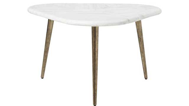 intertwine triangle marble coffee table - CB2