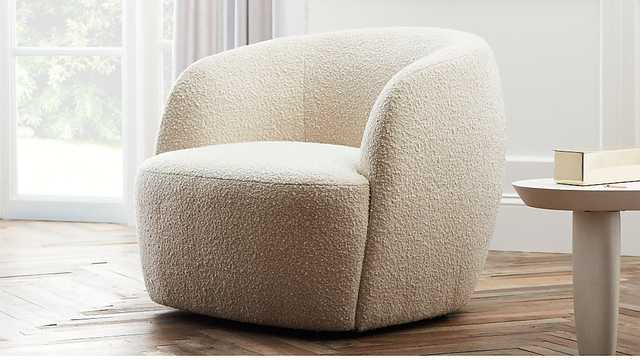 Gwyneth boucle chair - CB2