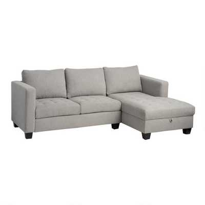 Gray Right Facing Trudeau Sectional Sofa With Storage - World Market/Cost Plus