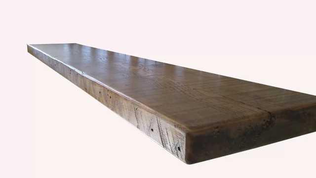 "Barnwood Floating Shelf - 2"" H x 60"" W x 6"" D - Wayfair"