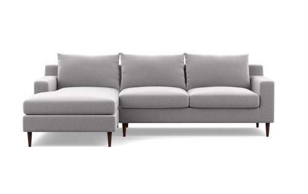 SLOAN Sectional Sofa with Left Chaise - ash performance felt - Interior Define