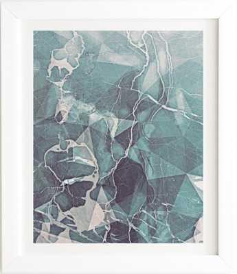 TEAL BLUE GEOMETRIC MARBLE - Wander Print Co.