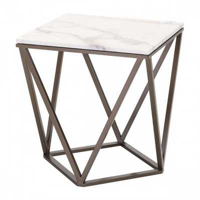 Tintern End Table Stone & A. Brass - Zuri Studios