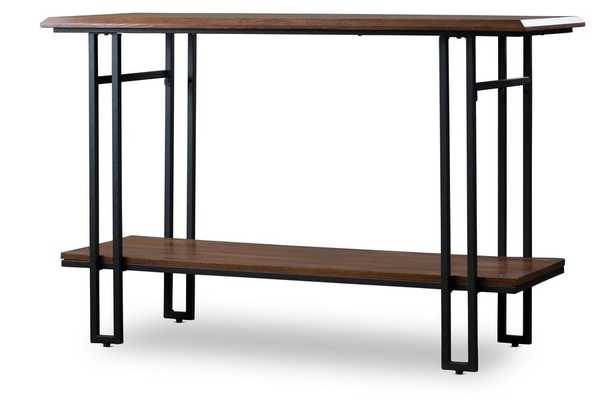 BAXTON STUDIO NEWCASTLE WOOD AND METAL CONSOLE TABLE - Lark Interiors