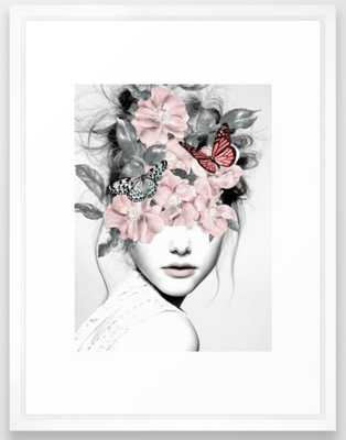 WOMAN WITH FLOWERS 10 Framed Art Print - Society6