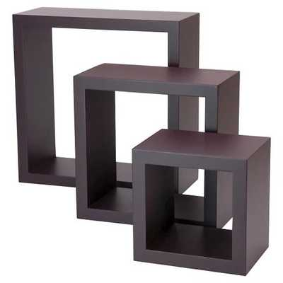 Set of 3 Cubbi Shelves - Espresso - Target