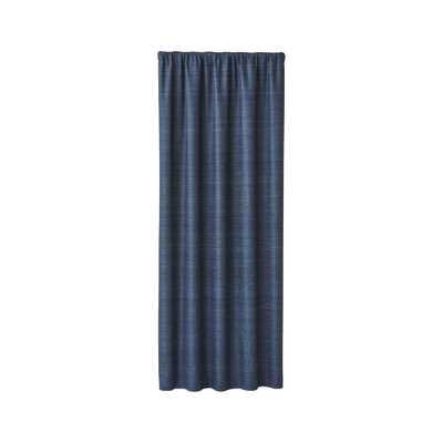 "Silvana Blue Silk Blackout Curtain Panel 48""x96"" - Crate and Barrel"