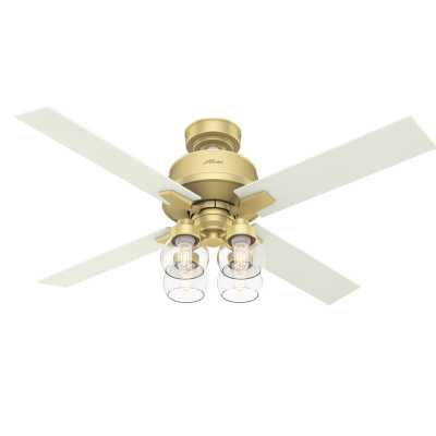 """52"""" Vivien 4 Blade Ceiling Fan with Remote, Light Kit Included - Wayfair"""