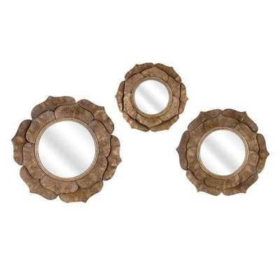 Wanderings Wall Mirrors - Set of 3 - Mercer Collection