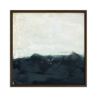 sitting still 11 x 11,matte black frame - Minted