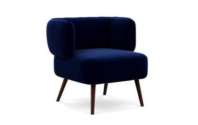 Parker Slipper chair, Oxford Blue - Interior Define