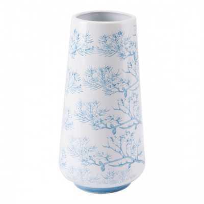 Branch Sm Vase Blue & White - Zuri Studios