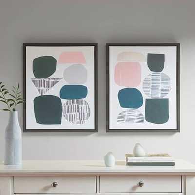 Rock Garden Gel Coat Framed Canvas 2pc Decorative Wall Art Set - Target