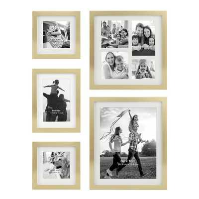 Decorative Stamped Gold Picture Frame Set, (Set of 5) - Home Depot