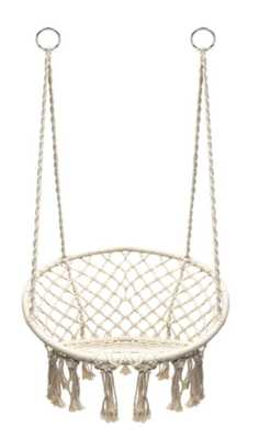 Hanging Rope Chair - Off White - Beige - Sorbus - Target