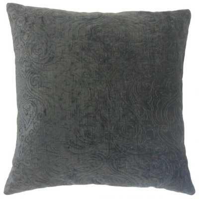 """Hertzel Solid Pillow Ore - 22"""" x 22"""" - Down Insert - Linen & Seam"""