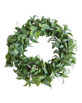 FAUX DUSTY LAUREL WREATH - McGee & Co.