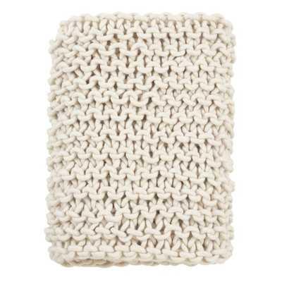 Mantua Oversized Cable Knit Premium Wool Throw - Wayfair