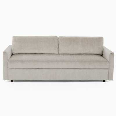 Clara Sleeper Sofa, Worn Velvet, Light Taupe, Concealed Supports - West Elm