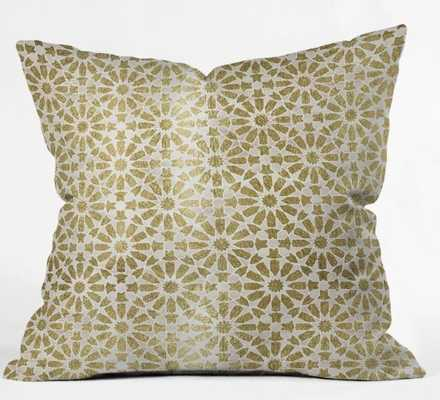 HARA TILES GOLDEN PILLOW with Insert - Wander Print Co.